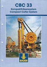 Equipment Brochure - Bauer - CBC 33 - Compact Cutter System - c2000 (E3450)