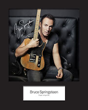 BRUCE SPRINGSTEEN #1 Signed Photo Print 10x8 Mounted Photo Print - FREE DELIVERY