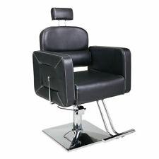 Hydraulic Barber Chair 360-Degree Rotating Beauty Equipment w/Tiltable Backrest