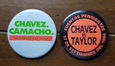 2 Boxing buttons Chavez vs Camacho and Chavez vs Taylor