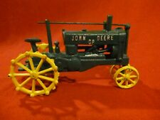 John Deere Toy Tractor, Cast Iron, Green Yellow, Missing Steering Wheel Vgc Nice
