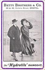 Advertising. Betty Brothers Hydrotite Raincoat, Victoria St.,Bristol. Borzoi.
