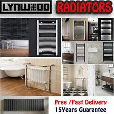 Lynwood Towel Rail Radiator Luxury Bathroom Heating Rad Round Panel Matt Black