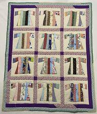 """Handmade Quilt Dress Wall Hanging Throw Lap Quilt 40"""" x 48"""""""