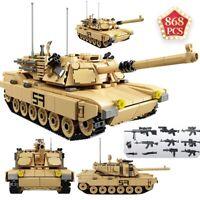868Pcs Military Series Main Battle Tank Building Blocks Educational Toys Kids