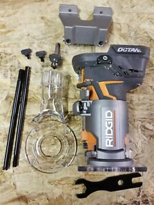 For Parts RIDGID 18V OCTANE Cordless Brushless Compact Fixed Base Router R860443