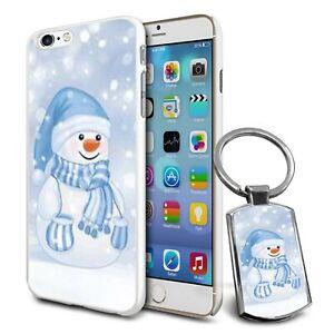 Snowman Christmas Design Hard Case Cover For Apple Samsung & Keyring Gift - 13