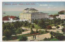 Madeira, Funchal, Theatro e Jardim Publico Postcard, B145