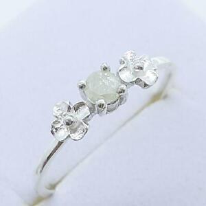 $999 14K White gold plate/925 Genuine .18ctw Diamond Engagement Ring Size 6.5