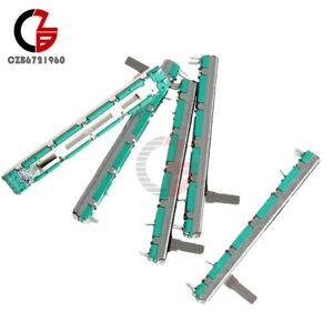 5PCS 75mm Behringer Mixer Fader B10K Dual Double Straight Slide Potentiometer