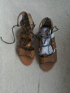 WBR77 Mint Velvet Louisa Gladiator Flat Sandal Size UK 6 / EU 39