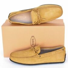 TOD'S Tods New sz UK 10.5  - US 11.5 Designer Mens Drivers Loafers Shoes yellow