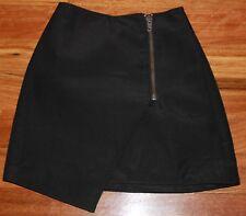 Women's Black Asymmetrical Wrap Skirt - Cameo - Size XS