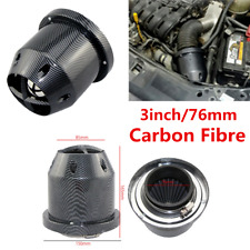 3inch/76mm Carbon Fiber Car High Flow Cold Air Intake Filter Cleaner Universal