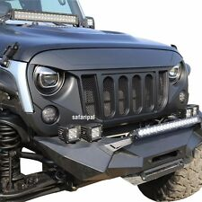 New Safaripal Front Grille Grill Six Slots Bold for 07-17 Jeep Wrangler JK Matte