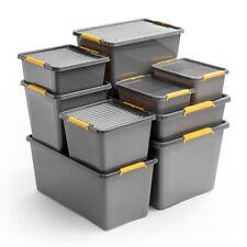 Aufbewahrungsbox mit Deckel Kunststoffbox Behälter Solid Store Box 6 bis 145 L