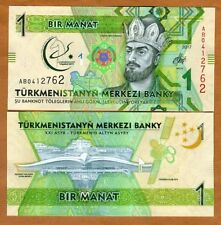 Turkmenistan, 1 Manat, 2017 P-New, UNC > Commemorative