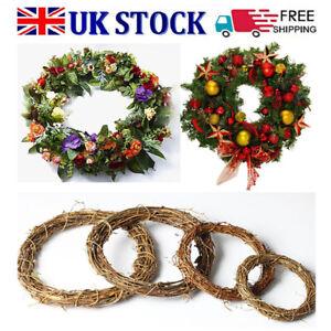 DIY Xmas Wreath Rattan Wicker Wedding Decor Garland Vine Ring Artificial