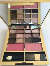 Estée Lauder Make Up Palette Gold Art Deco Mirrored Compact Eye Shadows Blush