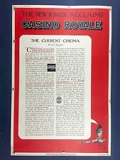 "Ultra Rare CASINO ROYALE 40"" x 60"" Movie Poster 1967 James Bond Sean Connery"