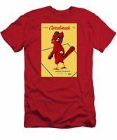 St. Louis Cardinals Vintage 1956 Program T-Shirt Funny Cotton Tee Gift Men
