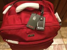 NEW WITH TAGS!! Tumi Super Leger International Carry On Super Light Bright Red