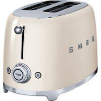 £220 Smeg Tsf 01 Cruk Retro 2 Slice Toaster Cream stainless CHRISTMAS GIFT