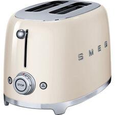 SMEG TSF01CRUK Cream 50's Style Retro 2 Slice Toaster