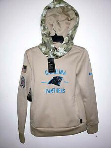 Womens Carolina Panthers Nike Salute To Service NFL Hoodie Sweatshirt New XS $85