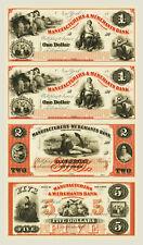 New York, NY- Manufacturers & Merchants Bank $1-$1-$2-$5. Uncut Proof Sheet COPY