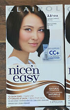 1 BOX- Clairol Nice n Easy 3.5 / 121A Natural Darkest Brown Hair Color