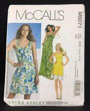 Laura Ashley McCalls Sewing Pattern M6071 Sun Dress Summer Size 4 to 12 UNCUT