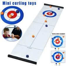 Table Top Curling Family Game For Children and Adults Dartboard Educational Game