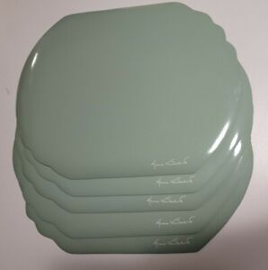 5 Gloria Vanderbilt Signature Glossy Vinyl Placemats Vintage light green