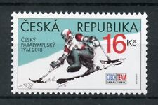 Czech Rep 2018 MNH Winter Paralympics PyeongChang 1v Set Skiing Sports Stamps