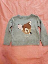 Baby Gap Toddler Girl Disney Bamby Sweater 18-24