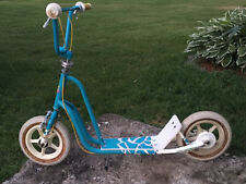 BMX Raleigh Shock Scooter Rare Blue/white ACS Old School Freestyle 80's CR-MO