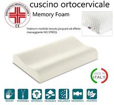 CUSCINO CERVICALE GUANCIALE ORTOCERVICALE MEMORY FOAM ANTIACARO ANALLERGICO