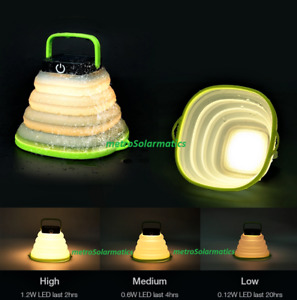COLLAPSIBLE CRUSH LIGHT SOLAR LANTERN USB charge w/POWER BANK OR POWER STATION