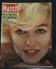 PARIS MATCH 697 Décès Marilyn Monroe Gottvallés Eddie Gilbert