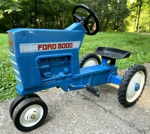 1960s Ford 8000 Pedal Tractor ERTL F-68 Blue Cast Aluminum Ship or Local Pick Up