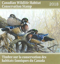 2018 Canada  Wildlife Habitat   -D-34  Mint NH