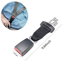"25CM 9.84"" High Quality Car Seat Belt Extender Extension Safety Buckle Black x2"