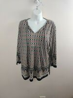 Jones New York Women's Blouse Size L Large Multicolor Free Shipping