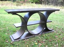 MID CENTURY MODERN CURVED BENTWOOD SOFA CONSOLE TABLE