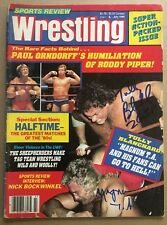 Sports Review Wrestling Magazine Tully Blanchard Magnum TA Signed Autograph NWA