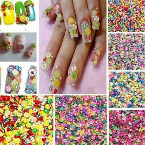 3D Cute  Mixed Styles Fimo Slice Polymer DIY Nail Art Tips Sticker Decoration