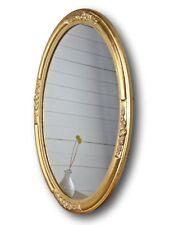 Miroir Mural Ovale Neuf or Bois Ornementations de Sale Bain Baroque Somptueux