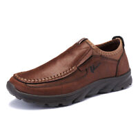 US Men's Casual Shoes Thicken Comfort Leather Driving Moccasins Work