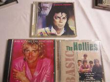Musik, 3 ältere CD`s, The Hollies, Michael Jackson, Rod Stuart